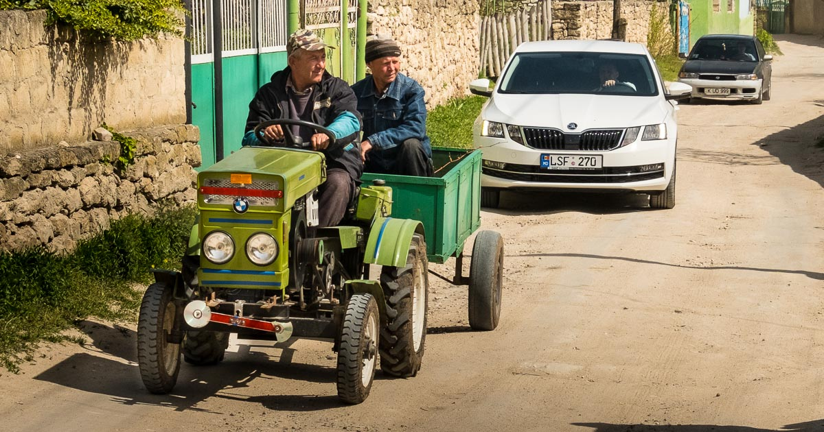 Orheiul Vechi BMW tractor, Moldova